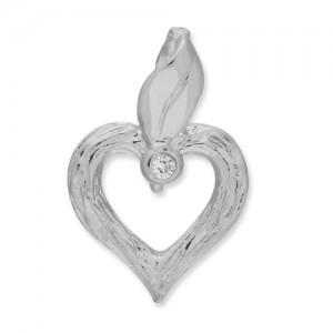 Hjerte smykke hvidguld
