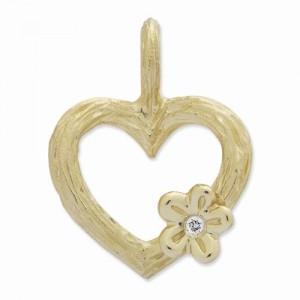 Hjerte smykke guld