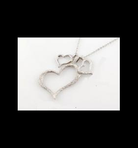 Sølv halskæde til kvinder big-hjerte