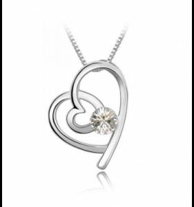 Sølv halskæde til kvinder brility