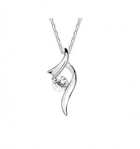 Sølv halskæde til kvinder clarity