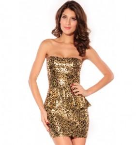 Leopard festkjole