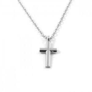 Kors halskæde til mænd lille