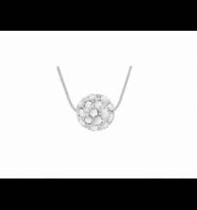 Sølv halskæde til kvinder moonstone