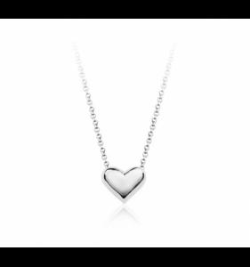 Sølv halskæde til kvinder prasiolite-heart