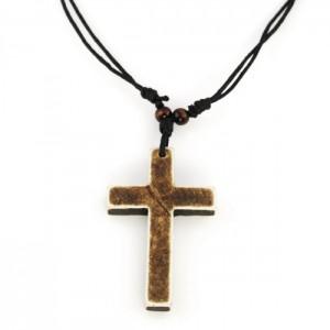 Kors halskæde til mænd nature