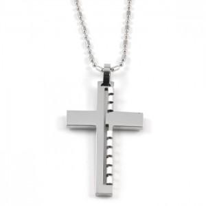 Kors halskæde til mænd stål