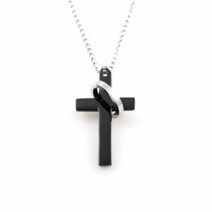 Kors halskæde til mænd ring