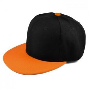 Fede caps til mænd med orange skygge