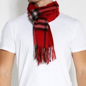Red wool halstørklæde