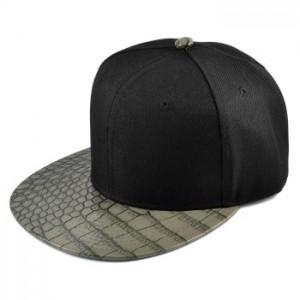 Fed cap med krokodille-look