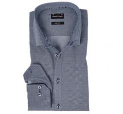 Bruun og stengade skjorte grå