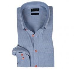 Bruun og stengade skjorte lyseblå