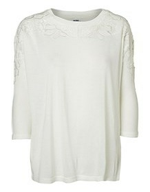 Vero Moda t-shirt mønster hvid