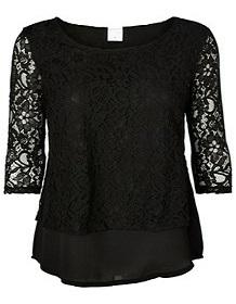 Vero Moda t-shirt mønster sort