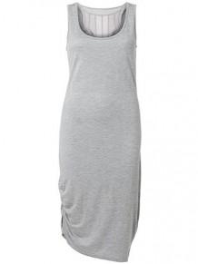flot kjole lang grå