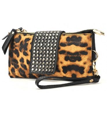 clutch taske leopard