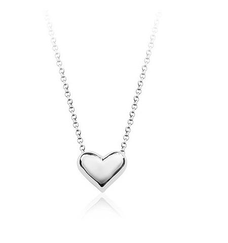 Sølv hjerte halskæde