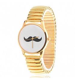 billige ure til kvinder guld mustache