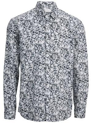 selected skjorte hvid mønster