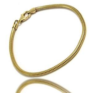 Guld halskæder slange