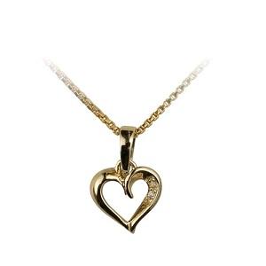 Guld halskæde hjerte