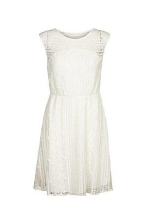 smart kjole i hvid