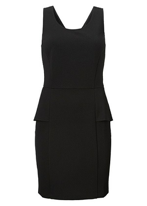 smart kjole i sort