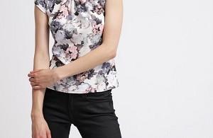 Fed sommer t-shirt til kvinder blomster