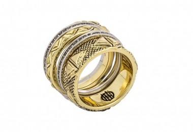 Vildt smuk guldring fra House of Harlow forside