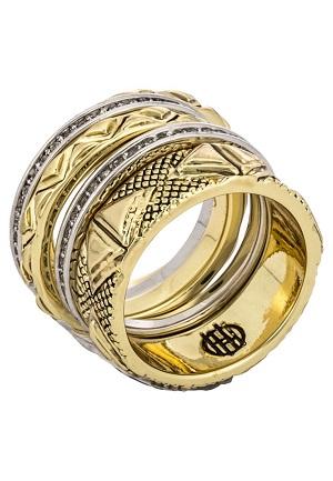 Vildt smuk guldring fra House of Harlow