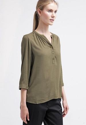 Billig bluse i grøn lang