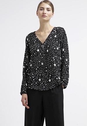 Sorte bluser til kvinder stjerner