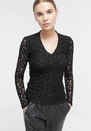Sorte bluser til kvinder