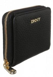 Sort læder pung fra DKNY