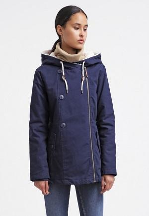Blå vinterjakke til kvinder