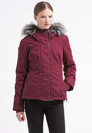 Fed vinterjakke til kvinder rød