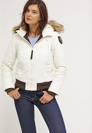 Hvid vinterjakke til kvinder