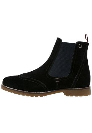 Læder vinterstøvler i sort