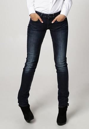Smarte blå jeans til kvinder