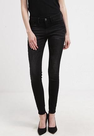 Sorte og smarte jeans til kvinder