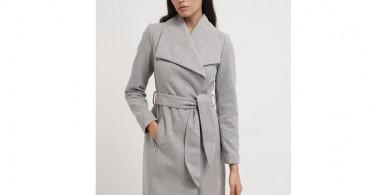 Grå uldfrakke fra Vero Moda forside