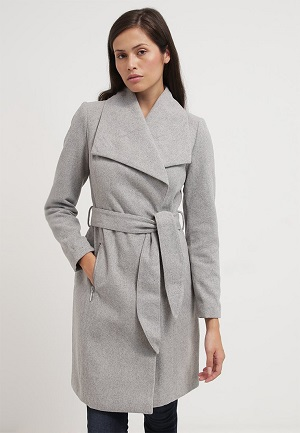Grå uldfrakke fra Vero Moda