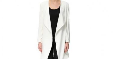 Hvid cardigan forside