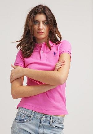 Pink feminin poloshirt