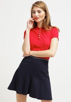 Poloshirt i rød feminin