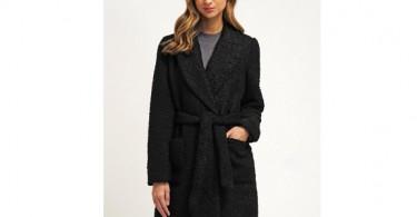 Sort Vero Moda uldfrakke forside