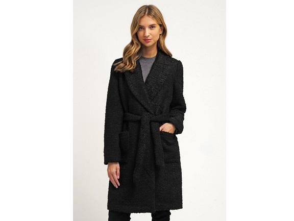 sort uldfrakke