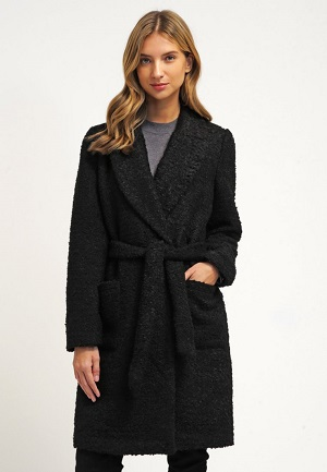Sort Vero Moda uldfrakke