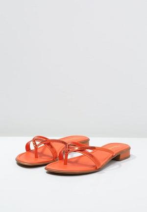 Orange sommersandal